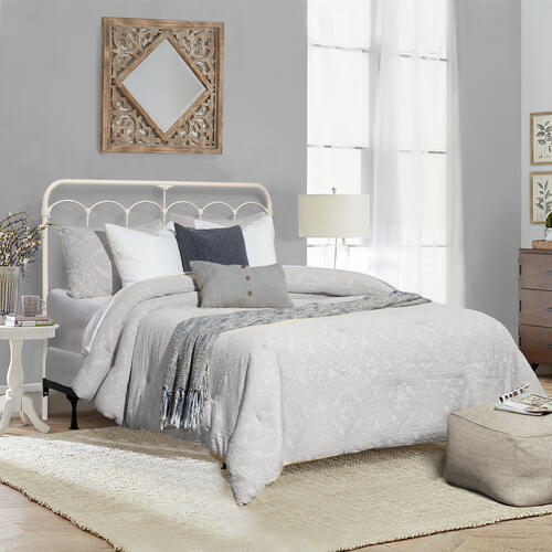 Jocelyn Metal King Headboard or Footboard, Soft White