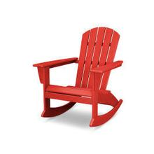View Product - Nautical Adirondack Rocking Chair in Vintage Sunset Red