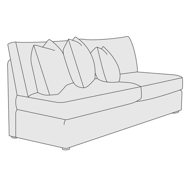 Sydney Armless Loveseat