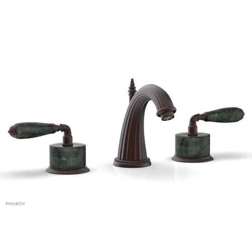 VALENCIA Widespread Faucet Green Marble K338F - Weathered Copper