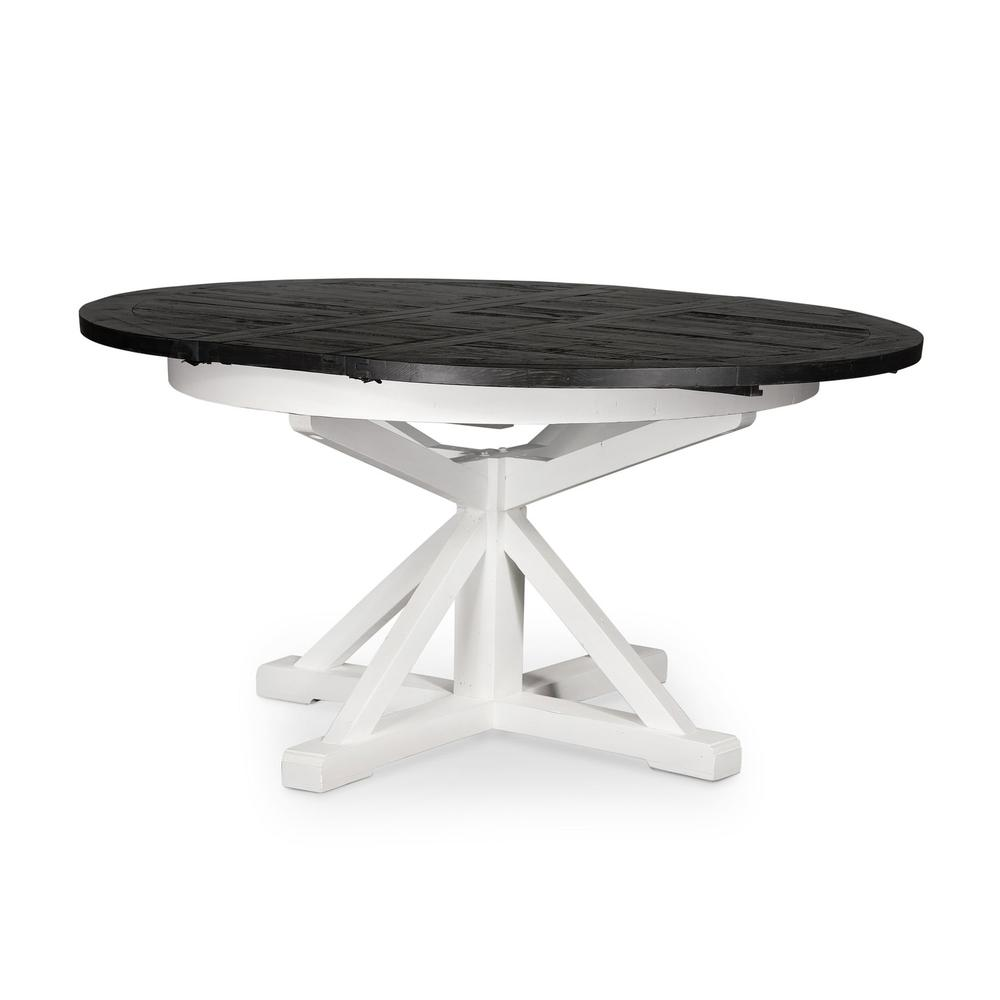 """48"""" Size Ink Finish Cintra Extension Dining Table"""