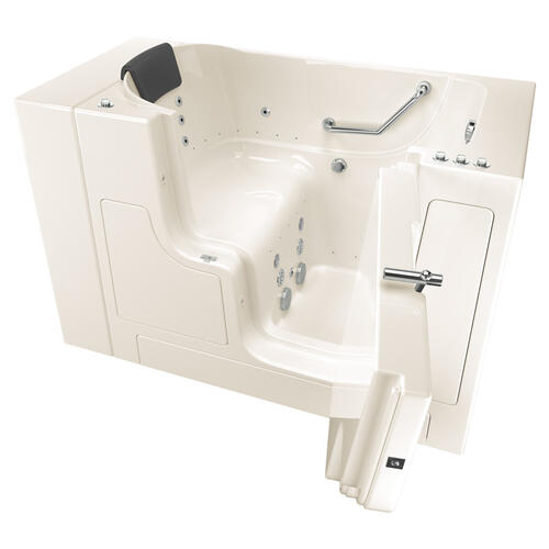 Gelcoat Premium Seriers 30x52 Walk-in Tub with Combo Massage and Outswing Door, Right Drain  American Standard - Linen