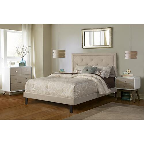 Hillsdale Furniture - Becker Queen Bed Set - Cream Fabric