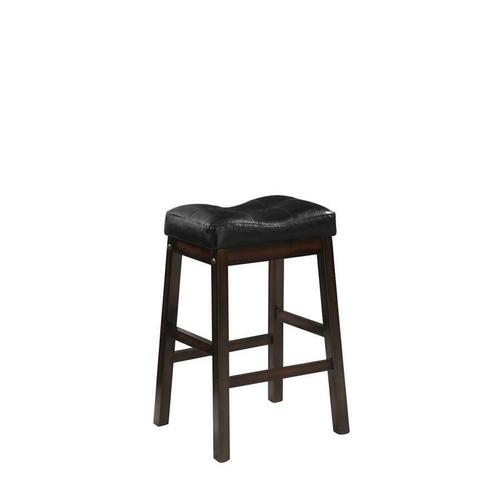 Coaster - Black and Dark Cherry Upholstered Counter Stool