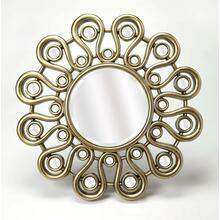 See Details - Enjoy this mirror in any room in your home. It's stylish flower inspired frame gives it that little something extra that makes the mirror pop, as opposed to simple mirrors that just hang on your wall. Enjoy not only admiring this mirror, but the reflection looking back at you as well.