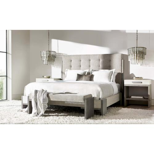 Queen-Sized Foundations Panel Bed in Light Shale (306)