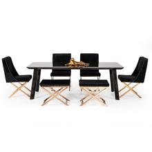 View Product - Modrest Chadwick Modern Ebony & Rosegold Dining Table