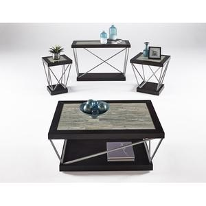 Chairside Table - Woodtone Tile Finish
