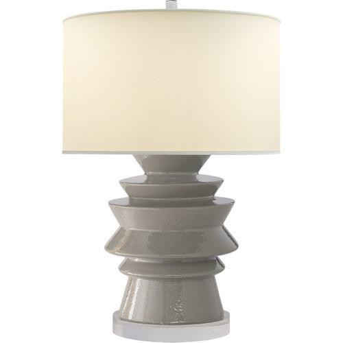 Visual Comfort - E. F. Chapman Stacked Disk 29 inch 100.00 watt Shellish Gray Table Lamp Portable Light