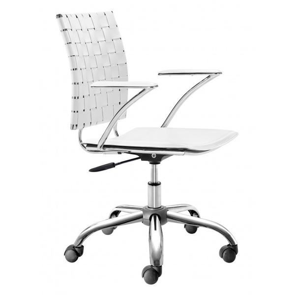 See Details - Criss Cross Office Chair White