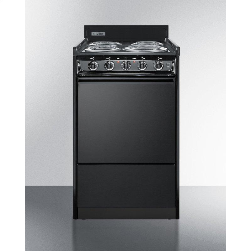 """20"""" Wide Electric Coil Range"""