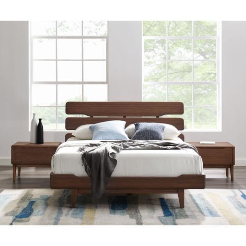 Greenington Fine Bamboo Furniture - Currant Queen Platform Bed, Oiled Walnut