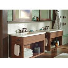 Venetian Bronze Two Handle Widespread Bathroom Faucet with EZ Anchor ®