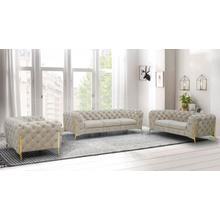 See Details - Divani Casa Sheila - Transitional Beige Fabric Sofa Set