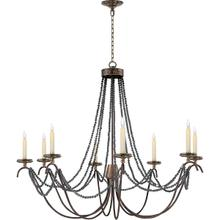 View Product - E. F. Chapman Marigot 8 Light 44 inch Hand Painted Rust Finish Chandelier Ceiling Light