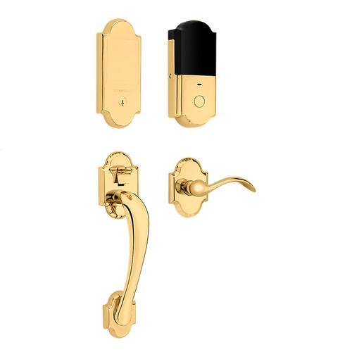 Baldwin - Non-Lacquered Brass Boulder Touchscreen Dummy Handleset