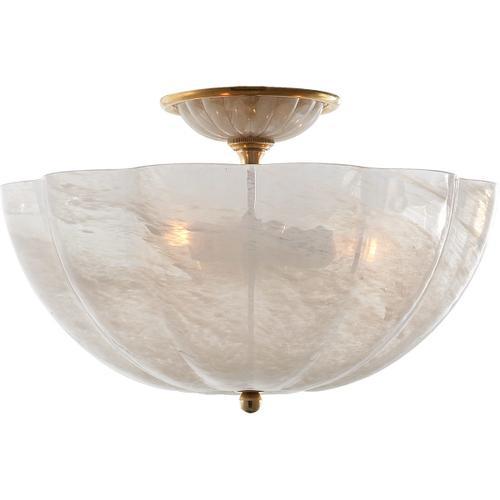 AERIN Rosehill 3 Light 16 inch Hand-Rubbed Antique Brass Semi-Flush Mount Ceiling Light