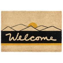 Doormat Desert Welcome Black/Gold 24x36