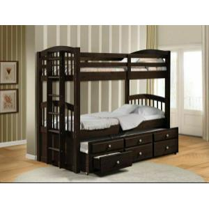 ACME Micah Twin/Twin Bunk Bed & Trundle - 40000 - Espresso