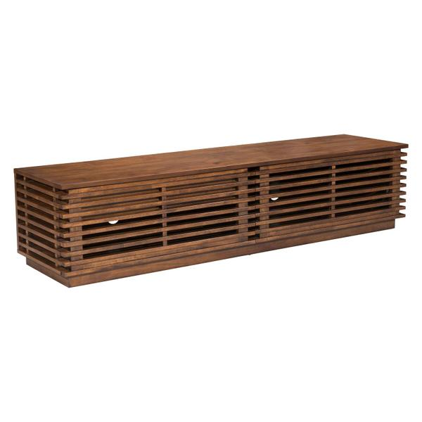 See Details - Linea Wide Entertainment Stand Walnut