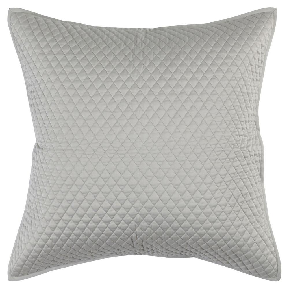See Details - Diamond Silver Euro Sham