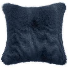 Luxury Faux Fur Cushion Cover - Blue