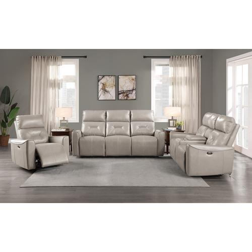 Homelegance - Power Double Reclining Love Seat with Center Console and USB ports