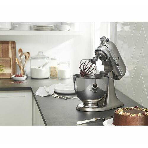Custom Metallic® Series 5 Quart Tilt-Head Stand Mixer Brushed Nickel