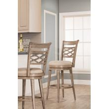 Chesney Swivel Bar Height Stool, Weathered Gray
