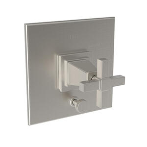 Satin Nickel - PVD Balanced Pressure Tub & Shower Diverter Plate with Handle