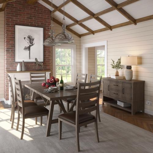 Ashland Trestle Dining Table Top & Base