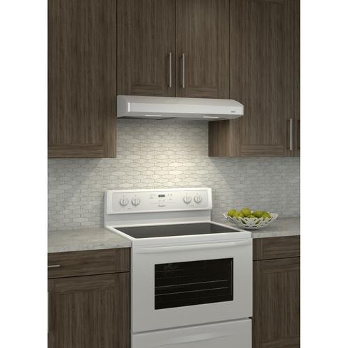 Broan - Broan® 30-Inch Convertible Under-Cabinet Range Hood, 250 CFM, White