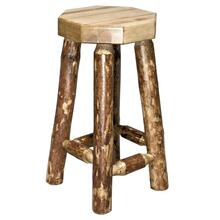 Glacier Country Collection Backless Barstool