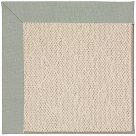Creative Concepts-White Wicker Canvas Spa Blue Machine Tufted Rugs