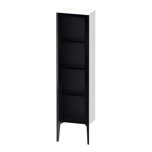 Duravit - Semi-tall Cabinet With Mirror Door Floorstanding, White Matte