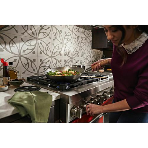 KitchenAid - KitchenAid® 48'' Smart Commercial-Style Dual Fuel Range with Griddle - Scorched Orange