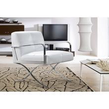 See Details - Divani Casa Delano Modern White Leather Lounge Chair