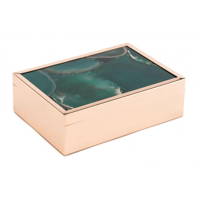 See Details - Large Stone Box Green