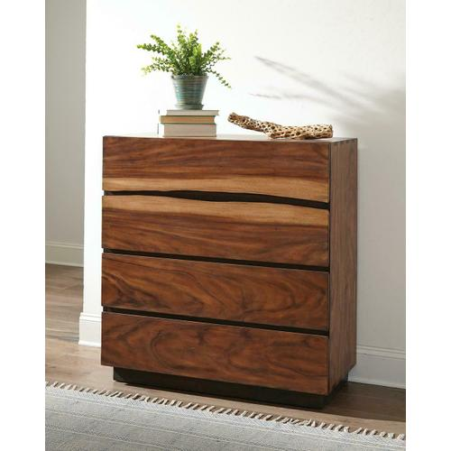Rustic Smoky Walnut Chest