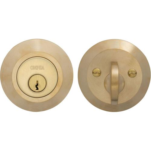 Product Image - Modern Auxiliary Deadbolt Kit in (US4 Satin Brass, Lacquered)