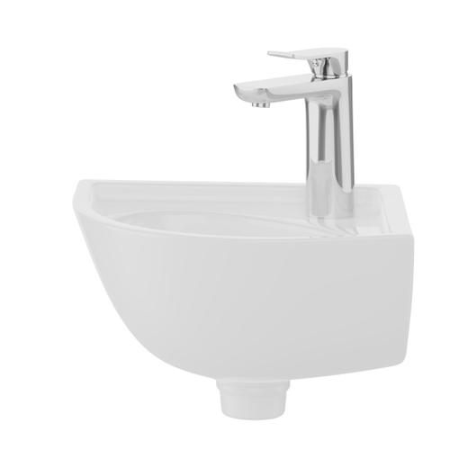 Petite Corner Wall-Hung Basin - White