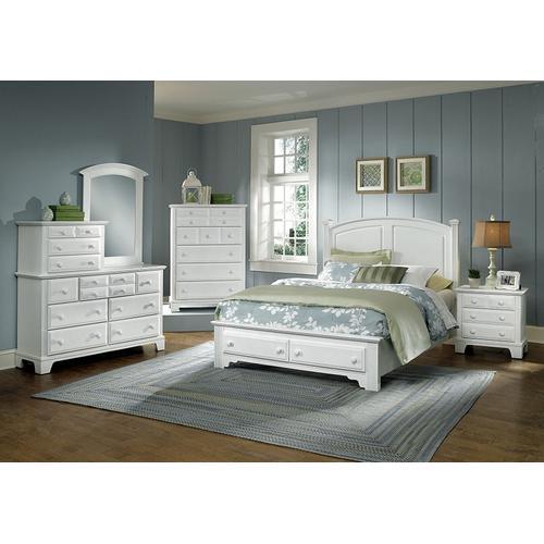 Vaughan-Bassett - Panel Bed with Storage Footboard Queen & King