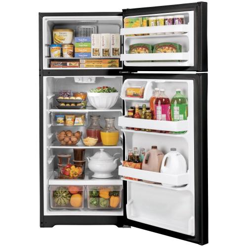GE Appliances - GE® ENERGY STAR® 16.6 Cu. Ft. Top-Freezer Refrigerator