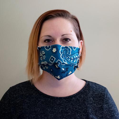 Reusable Face Mask in Bandana Denim