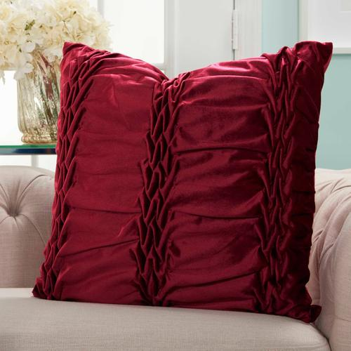 "Life Styles L0066 Burgundy 22"" X 22"" Throw Pillow"