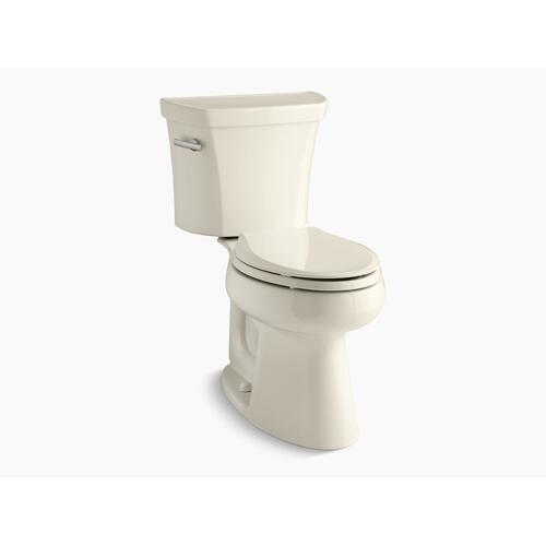 Kohler - Almond Two-piece Elongated 1.6 Gpf Chair Height Toilet