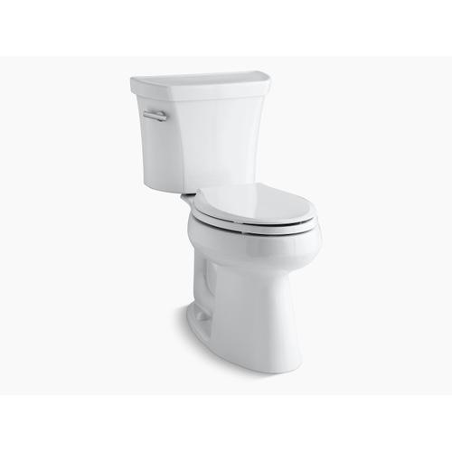 """Kohler - White Two-piece Elongated 1.28 Gpf Chair Height Toilet With 10"""" Rough-in"""