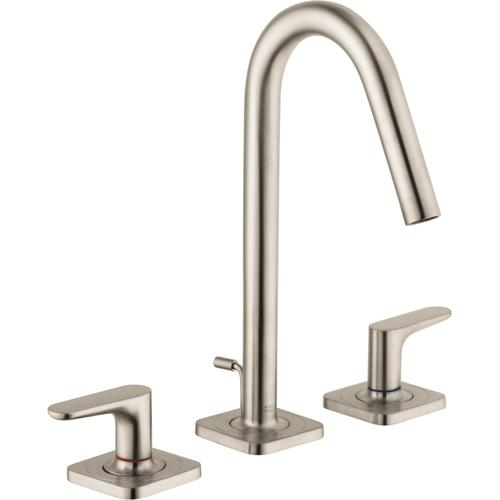 Brushed Nickel Widespread Faucet 160 with Pop-Up Drain, 1.2 GPM