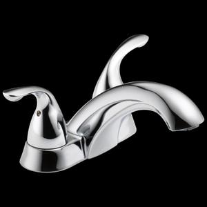 Chrome Two Handle Centerset Bathroom Faucet Product Image