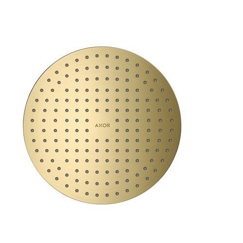 Brushed Brass Overhead shower 250 1jet ceiling